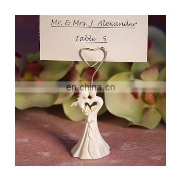 Captivating Bride and Groom Place Card Holder