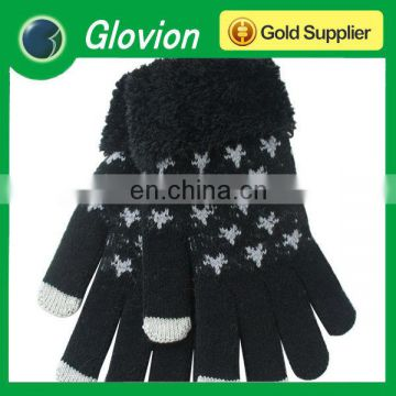 2014 New Style Soft knitted glove for Itouch Iphone Touchscreen Smart Touch Knited Glove
