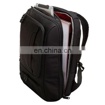 Black plush backpack with many inside pockets