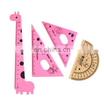 Cute Giraffe Protractor Ruler Set 4 in 1
