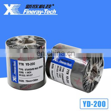 Thermal transfer ribbon wax resin ribbon size for 110mm*90m