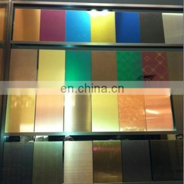 Black Color stainless steel sheet sus304 with mirror surface