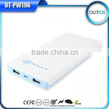 Hot selling ultra thin 10000 mah power bank with led charge indicator