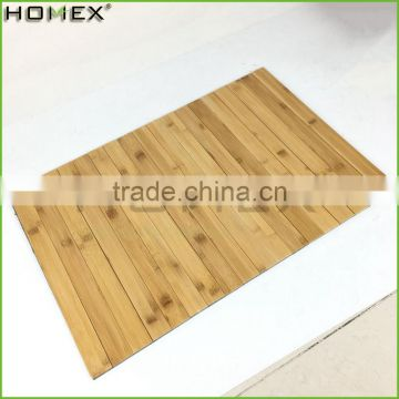 Bamboo Indoor Roll-up Floor Mat Shower Mat Homex-BSCI Factory