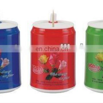 zip-top can toothpick holder for promotional