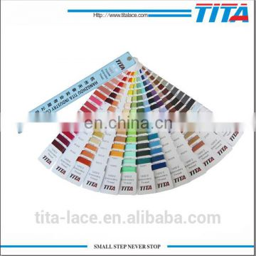 Eco-friendly polyester embroidery thread 120D/2 5000m stock delivery