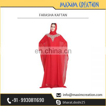 Elegant,Gorgeous and Beautiful Red Farasha Kaftan at Wholesale Rate