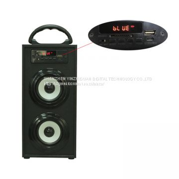 Wooden portable active party speaker with FM radio and remote control function