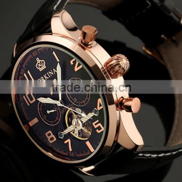 Classical hot selling stainless steel tourbillon watch Mens stainless steel tourbillon mechanical watches automatic WM375
