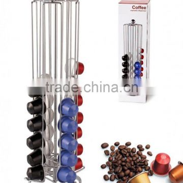 Coffee Pod Holder Revolving Capsule Stand