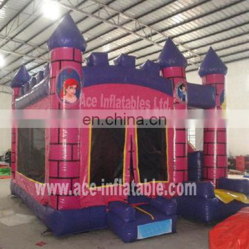 Hot sale Inflatable princess castle combo
