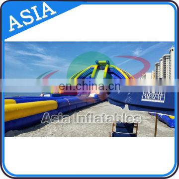 Three Ways Beach Entertianment Largest Inflatable Water Slide / Commercial Huge Inflatable Water Slide