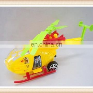 plastic pull string mini helicopter toy