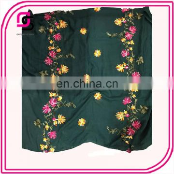 New scarf for spring and summer 2017 flower and plant embroidery sunscreen shawl all-match scarf