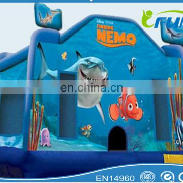 inflatable dolphin bouncer for sale/ dolphin inflatable bouncer/inflatable ocean dolphin bouncer for sale