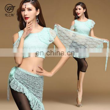 T-5168 Indian new arrival sexy lace 3pcs belly dance costumes set