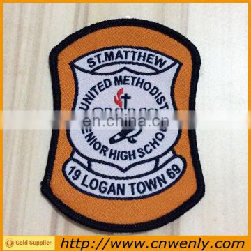 Customized knitted Garment fabric woven Badge/emblems