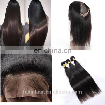 peruvian transparent 360 lace frontal closure with human hair bundles overnight shipping