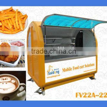 Most convenient crepe cart used outdoor mobile food kiosk