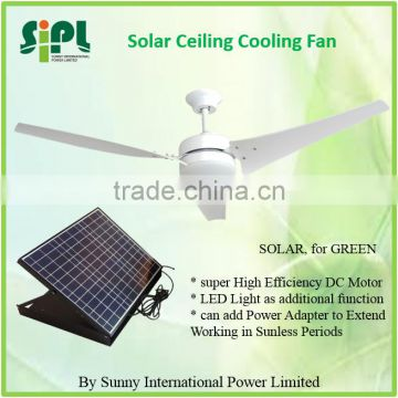 high performance 30 watt modern solar ceiling fan with power adapter for better quality