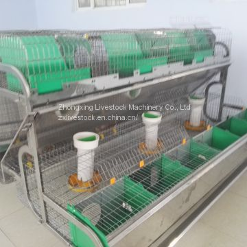Automatic rabbit breeding cages 2 tiers, 18 mother rabbit cages and 18 breeding boxes
