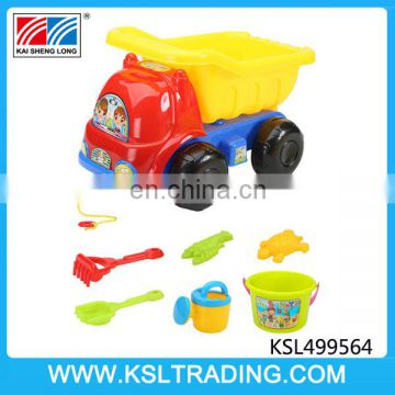 Hot selling summer plastic beach toy truck set for kids