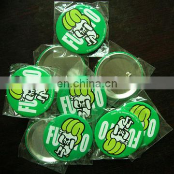Promotional Gifts Custom Printed Logo Tinplate Badges Pin Cheapest