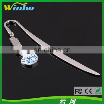 Winho Chinese Element Bookmark with Porcelain Ornament