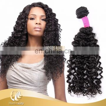 "Hot Beauty silky remy hair deep wave hair extention 12""-32"" natural color peruvian virgin hair"
