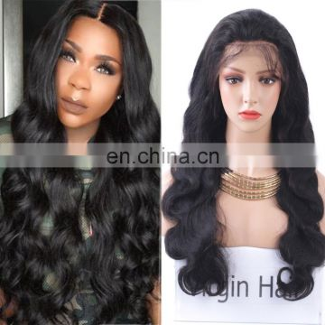 Cheap human hair wigs for black women middle part wigs