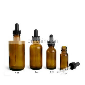 1oz 2 oz 4oz  amber essential glass bottle with glass droppers