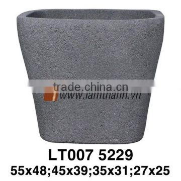 Stone-like Lightweight Square Cube Planter Wholesale