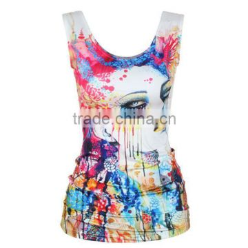 OEKOTEX-CERTIFICATE Factory Custom quick dry sublimation sleeveless shirt