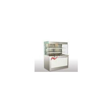 Cold / Hot Open Display Cases Self - Service Open Front Display Fridge For Kitchen