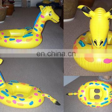inflatable water toys, inflatable giraffe floating seat