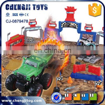 Inertial four wheel off road vehicle play mat toy kids small toy cars