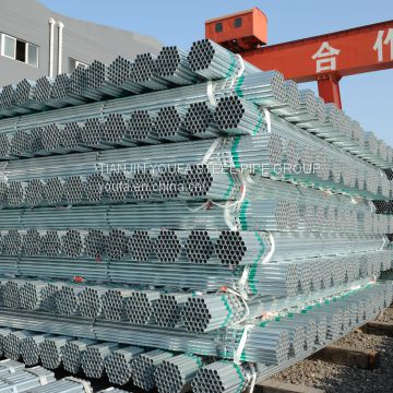 Hot dipped Galvanized Round Steel Pipe Threaded/Plain ends/ Grooved/ Bevelled BS 1387/  ASTM A53 /EN 39