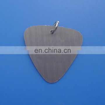 Trangle shape customized printed logo aluminum pet id tag