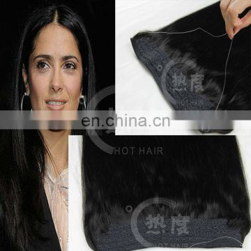 6A remy brazilian human hair cheap halo hair extensions good feedback brazilian virgin hair