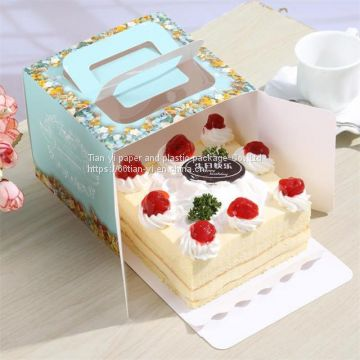 Miraculous Blue Flower Paper Packaging Cake Box Luxury Pink Flower Birthday Funny Birthday Cards Online Inifodamsfinfo