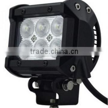 IP67 DC10V-30V 18W offroad 4x4 LED work light Bar Auto parts motor headlight container truck ,tractor work light