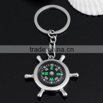 Outdoor Round Portable Keychain Compass