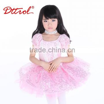 Kids beautiful model dresses sequined ballet child tutu skirt dance dress costume D008001