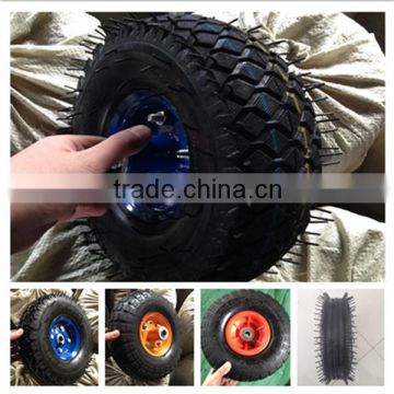 China factory of construction use 10 inch rubber pushcart pneumatic wheel