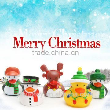 Hot wholesale promotional plastic duck ,christmas floating baby bath duck , yellow custom rubber duck