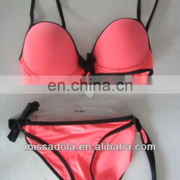 Sexy Black and Pink Bikini with Adjustable Waist