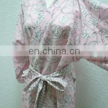 Chinavictor Nice Pattern 100% Cotton Girls Adult Free Size Japan Bathrobes
