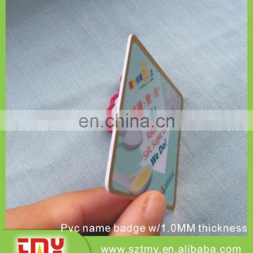 customized hot sale plastic led name badge tag with low price