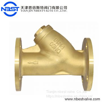 4inch Bronze Flange Cast Iron Manual Y Type Strainer Filter