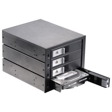 3.5in sata aluminum 4-bay slot tray-less mobile rack for optical drive bay hdd Internal Backplane Enclosure